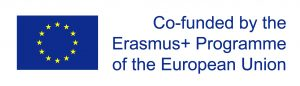 EU flag and text that says co-funded by the Erasmus+ Programme of the European Union.