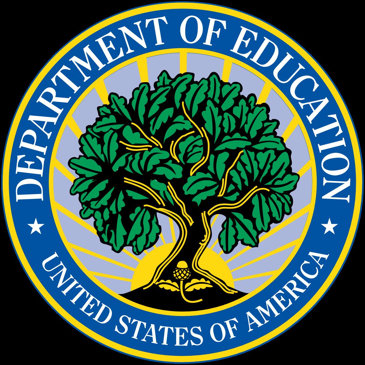 US Department of Education logo.