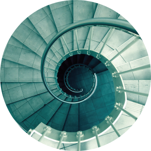 Decorative image of spiral staircase.