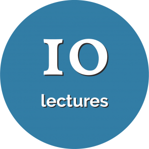 Circle with text that says 10 lectures.