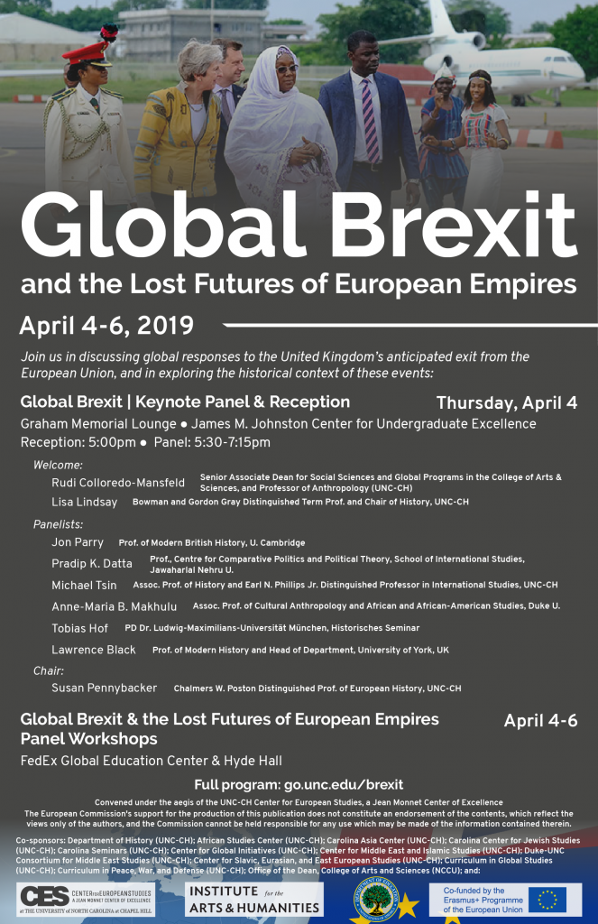 Flyer advertising Global Brexit Conference in April 2019.
