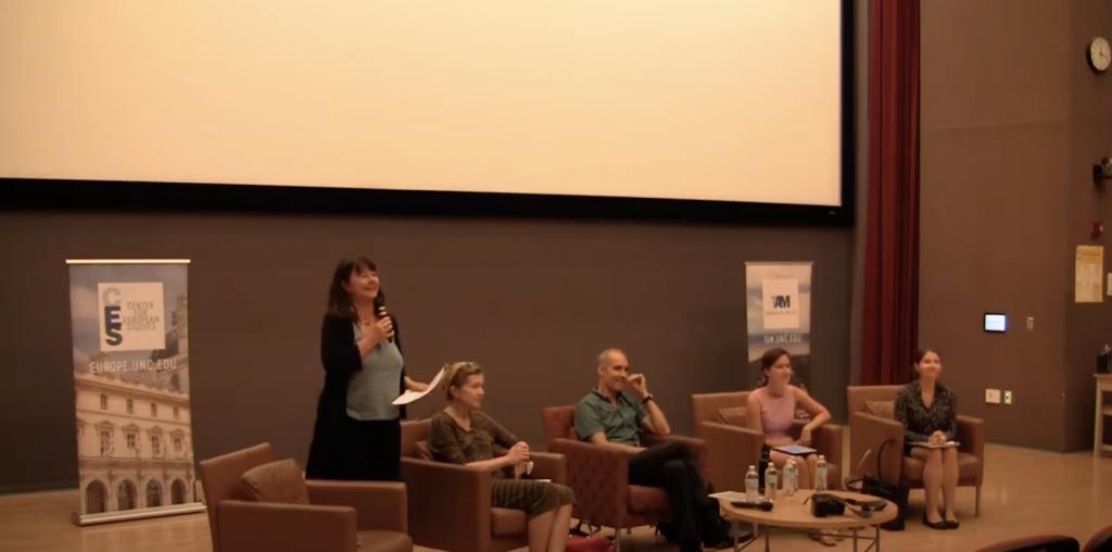 Milada Vachudova introduces the panel.